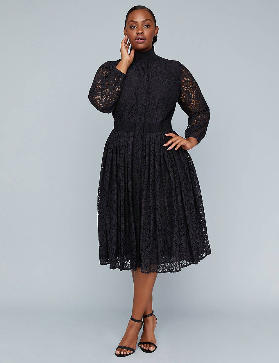 d8087d99e13 Lane Bryant Girl With Curves Pleated Lace Dress in 2019