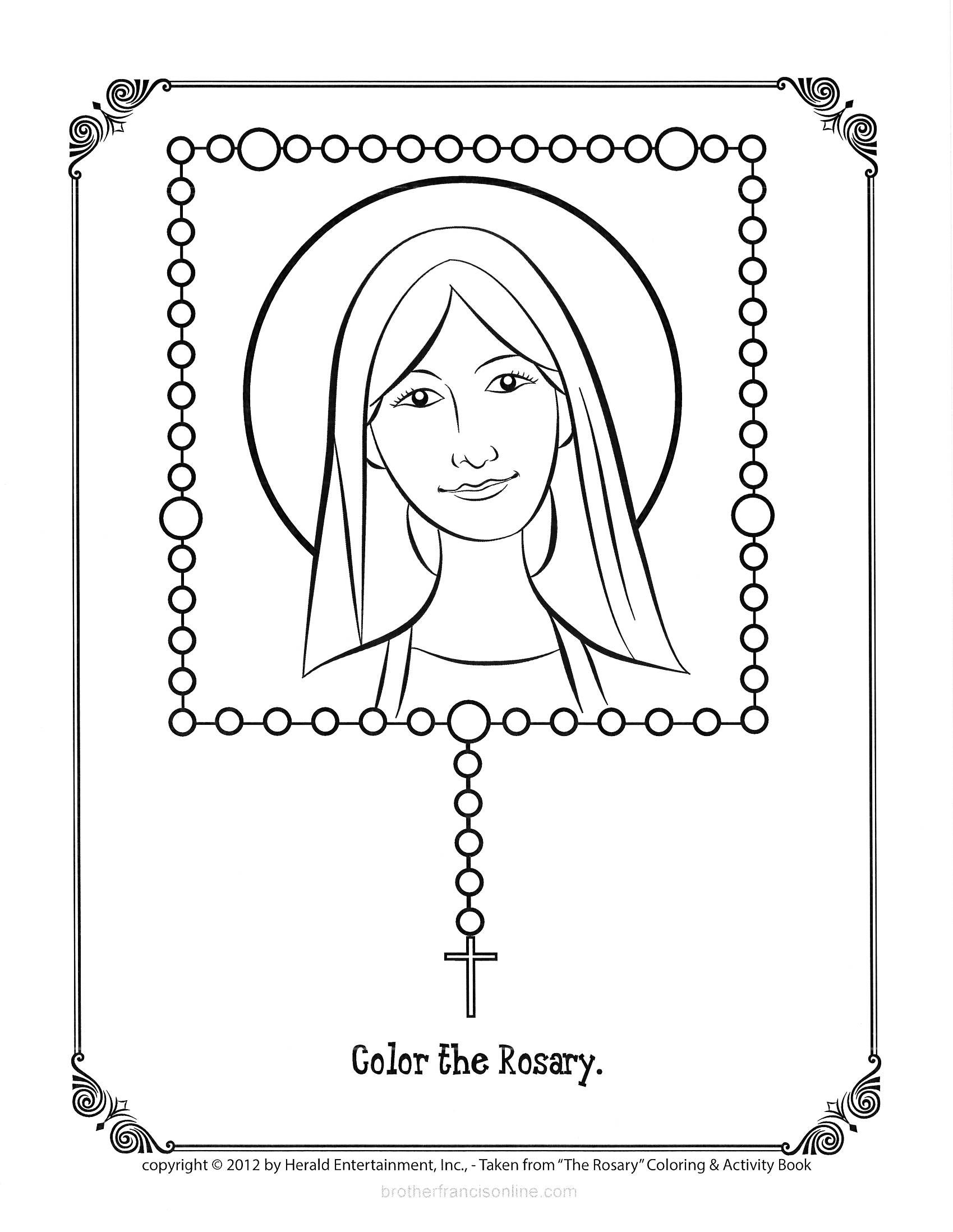 childrens rosary coloring pages | Rosary Coloring Page Printable Home Sketch Coloring Page