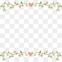 Vector Png Pink Flowers Love Romantic Vine Border Of Rattan Pink Border Love Vector Pink Vector Flower Vector Flower Border Floral Vector Png Flower Png Images