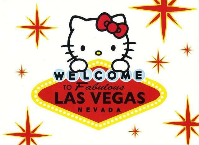 Hello Kitty postcard - Las Vegas d96436b6b660