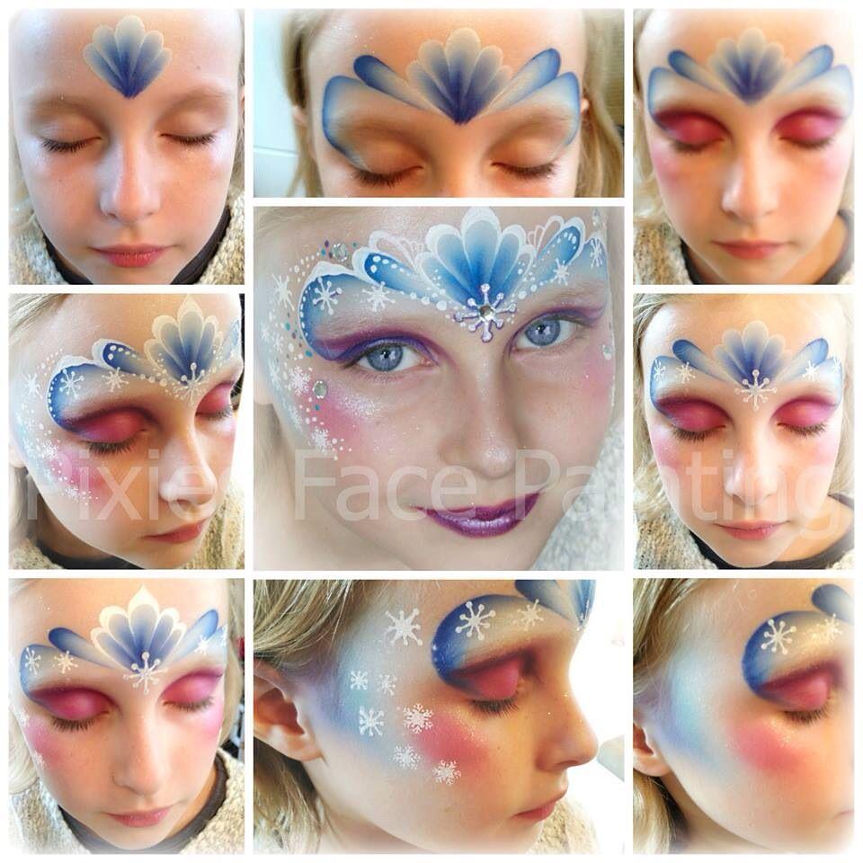 Onwijs Step by step for frozen design by Jenny Saunders :-) | Schminken XX-75