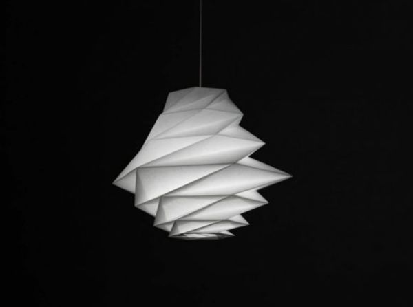 Gorgeous origami lampshades made from recycled plastic instead of gorgeous origami lamp shades made from recycled plastic instead of paper homecrux aloadofball Gallery