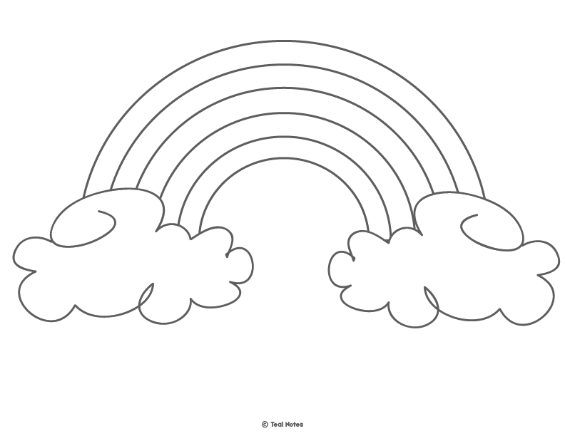 graphic about Rainbow Coloring Pages Free Printable identified as Rainbow Template: Free of charge Printable Rainbow Determine and Rainbow
