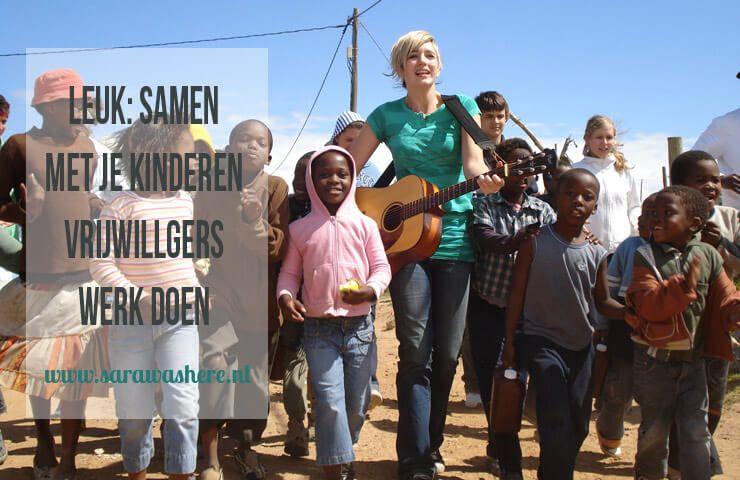 Leuk: samen met je kinderen vrijwilligerswerk doen