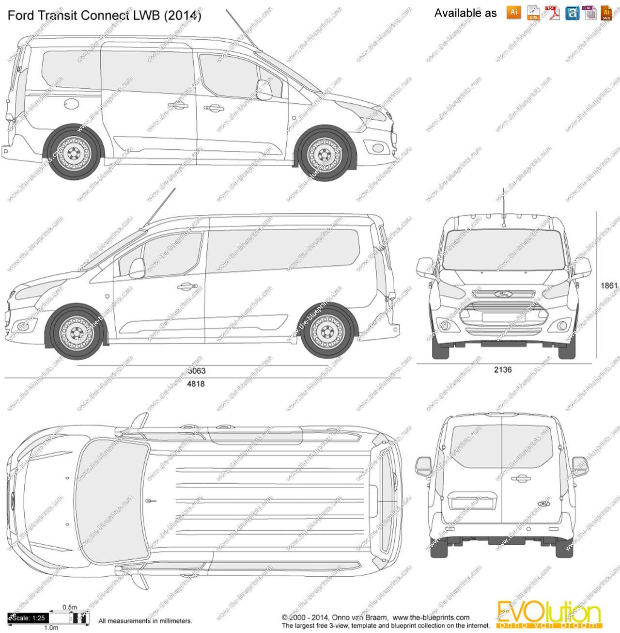 Ford Transit Connect Lwb Dimenzije