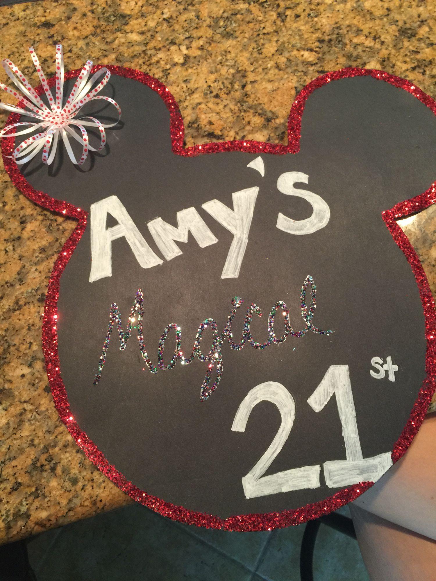 Disney themed 21st birthday sign!! #checklist #birthday #21 #disney #21stbirthdaysigns Disney themed 21st birthday sign!! #checklist #birthday #21 #disney #21stbirthdaysigns