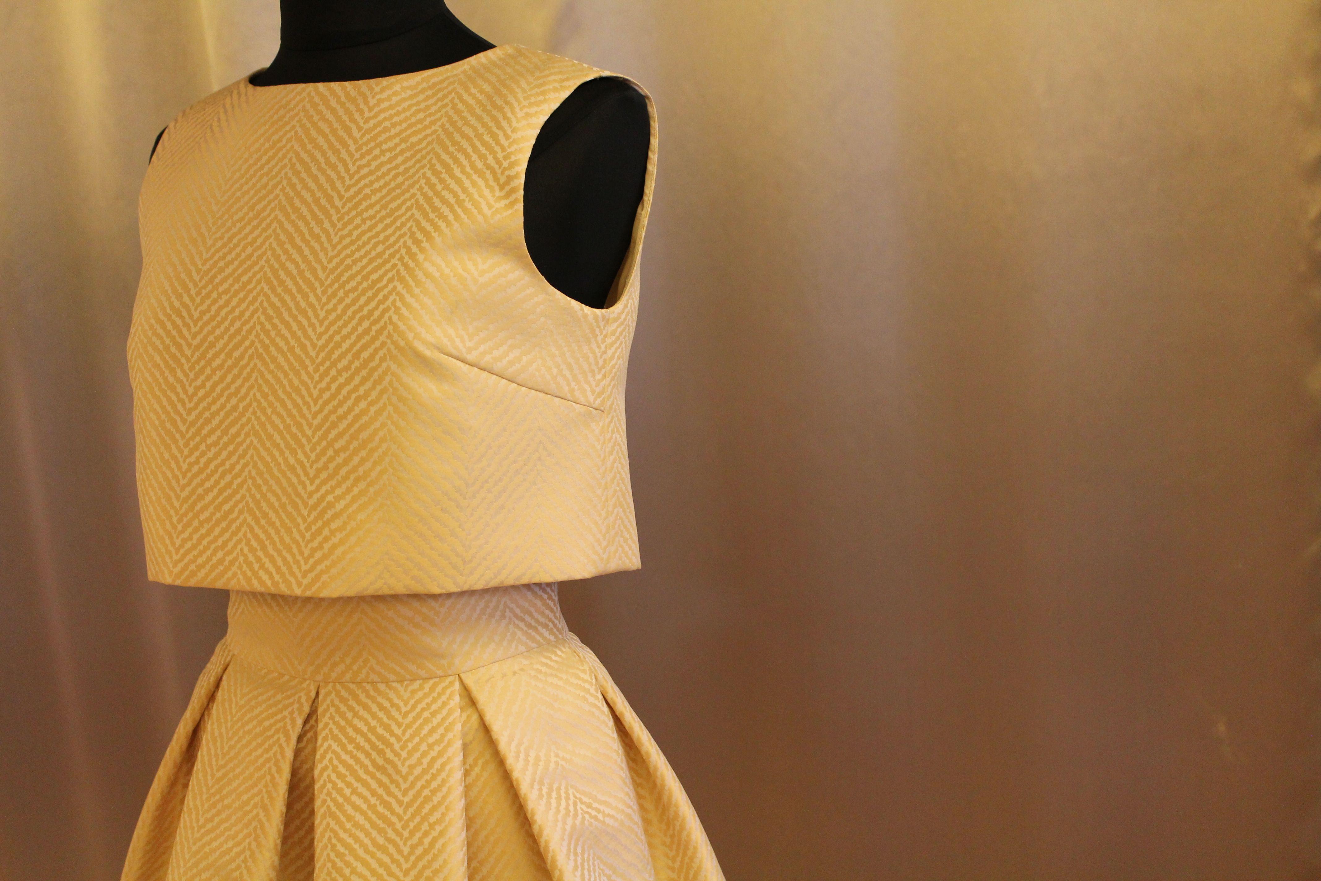 Maravilloso vestido dorado Javier Barroeta
