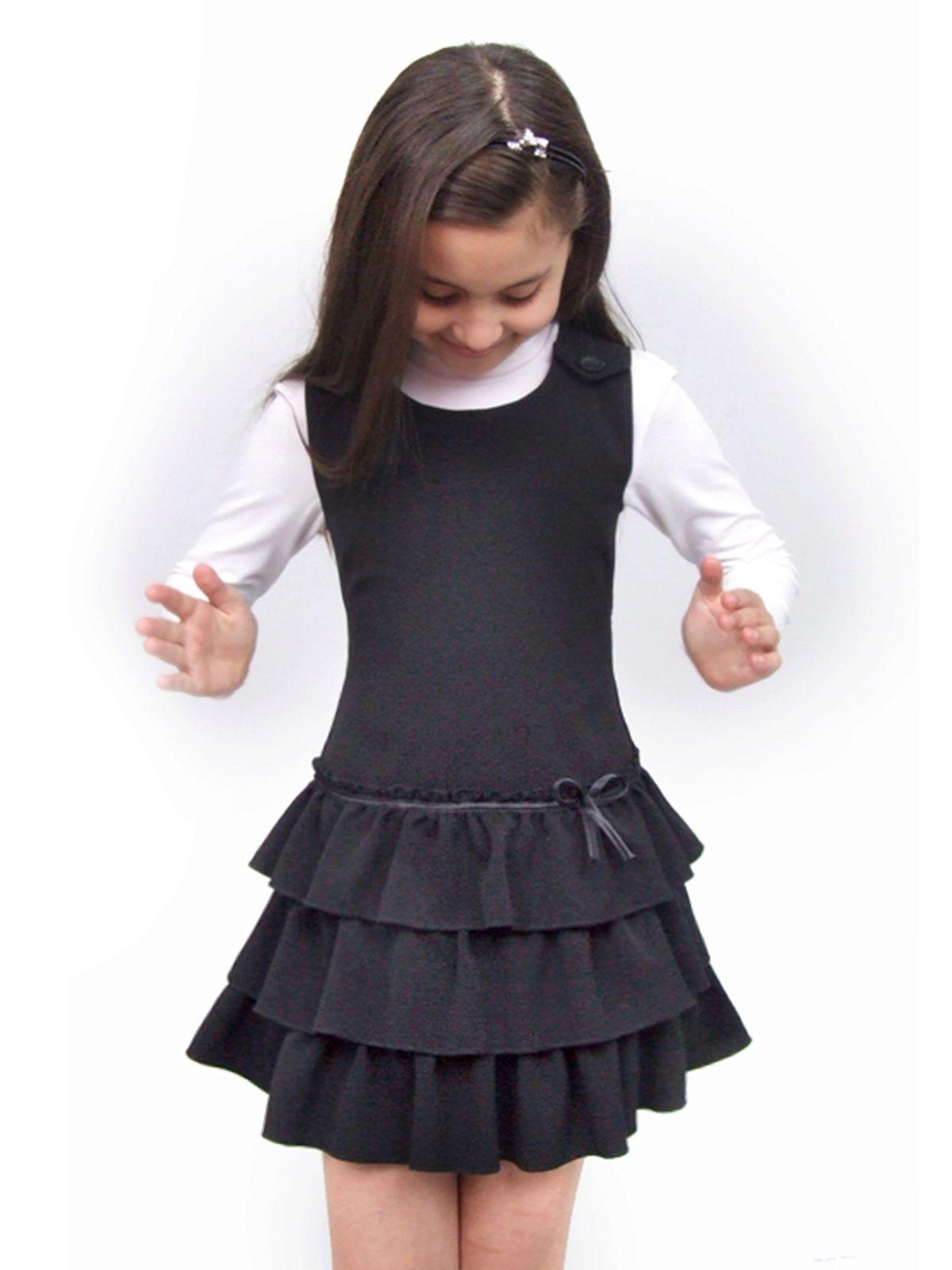 e5b745b4989f1 Школьные сарафаны для девочек (141 фото): школьная форма для  старшеклассницы, модные фасоны сарафанов в школу