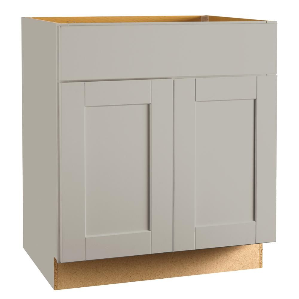 Best Hampton Bay Shaker Assembled 30X34 5X24 In Sink Base 640 x 480