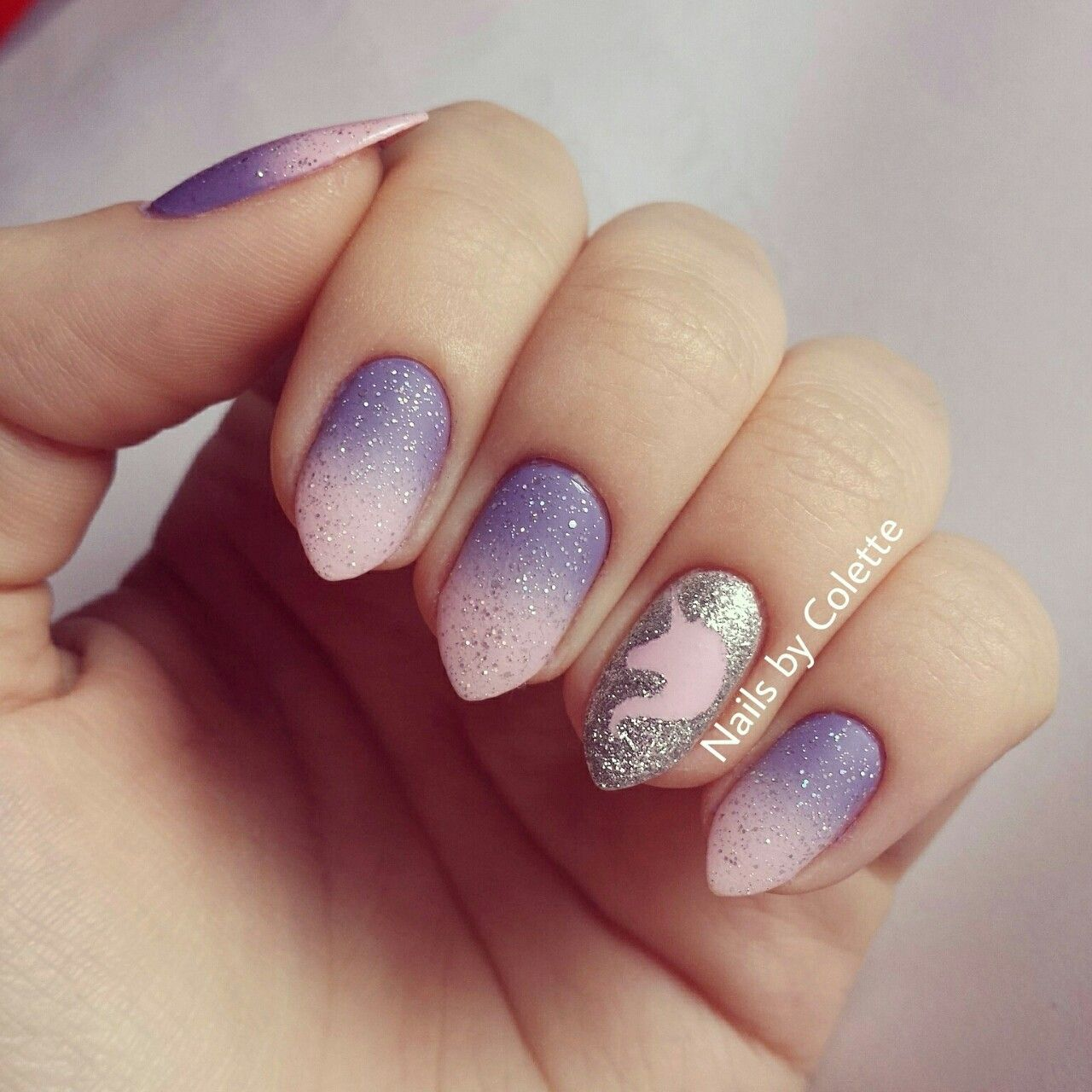 Cute little fantasy inspired glitter gradient design today featuring ...