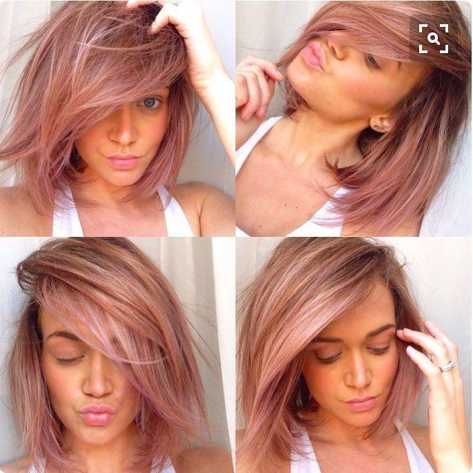 Couleur de cheveux rose gold