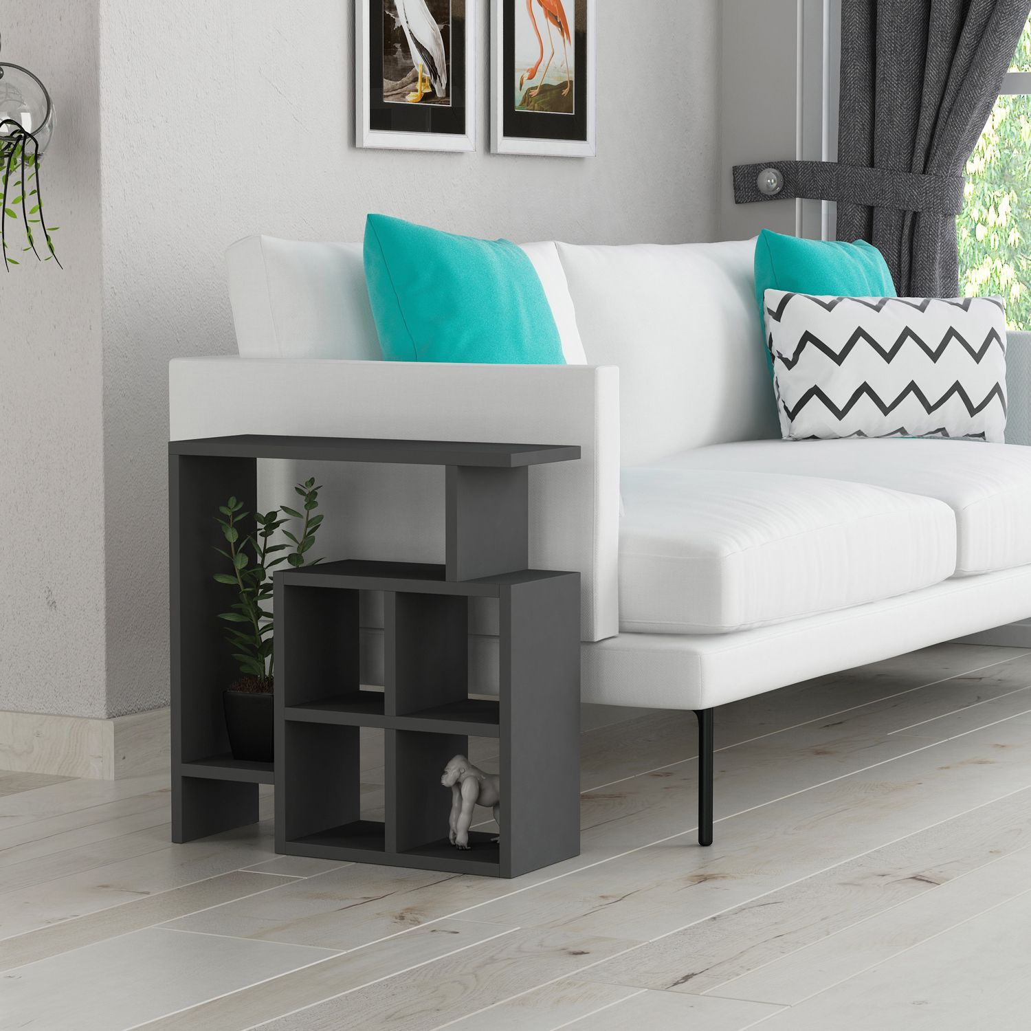 Costa anthracite side table