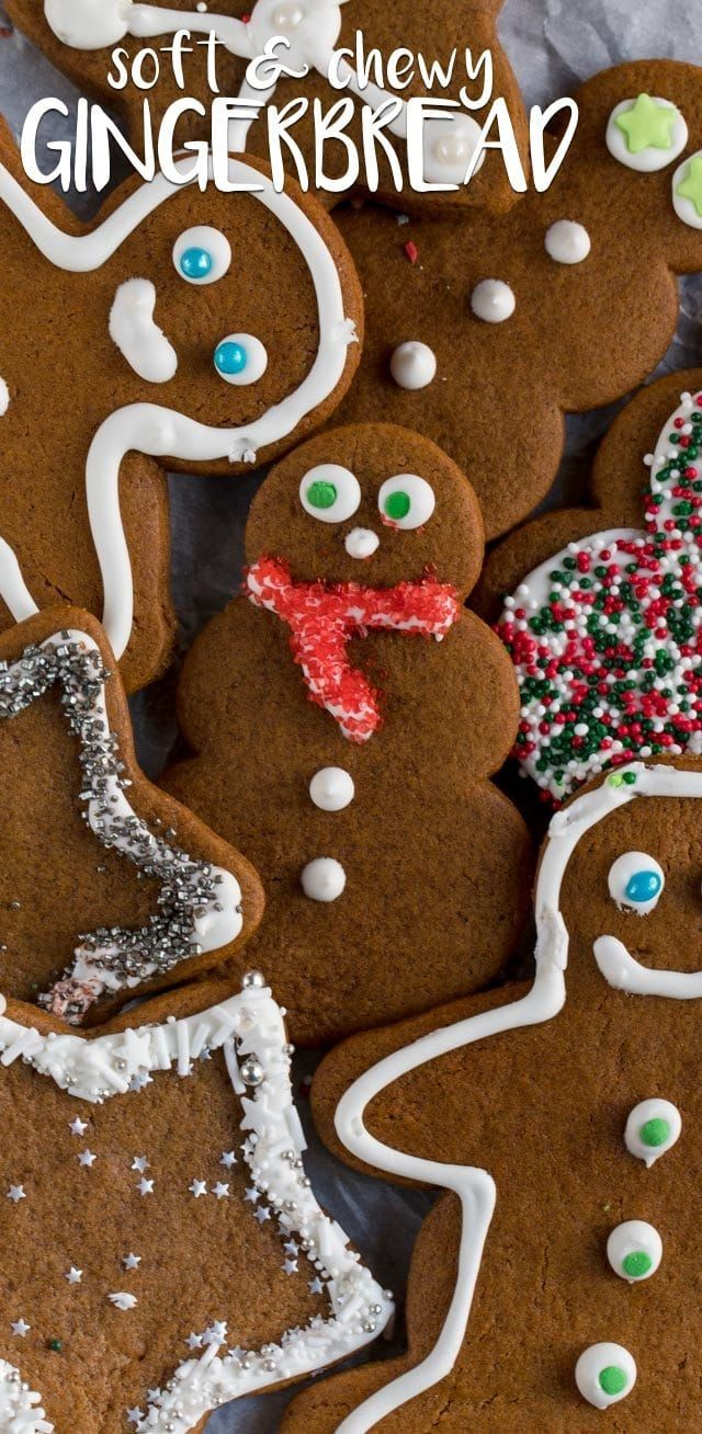 Gingerbread Cookies (soft & chewy cutouts) - Crazy for Crust