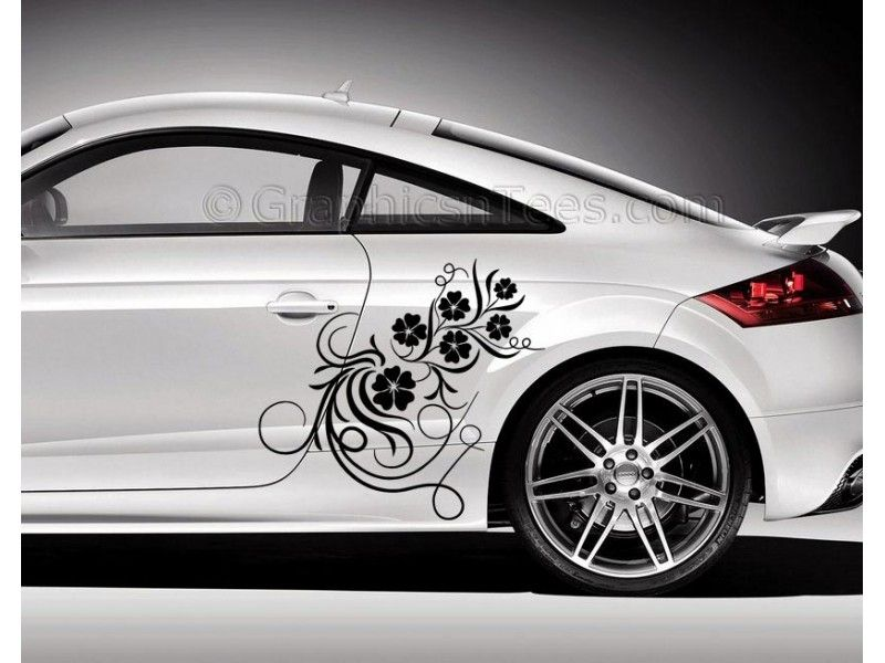 Audi tt car sticker side decal flower car sticker girly car stickers