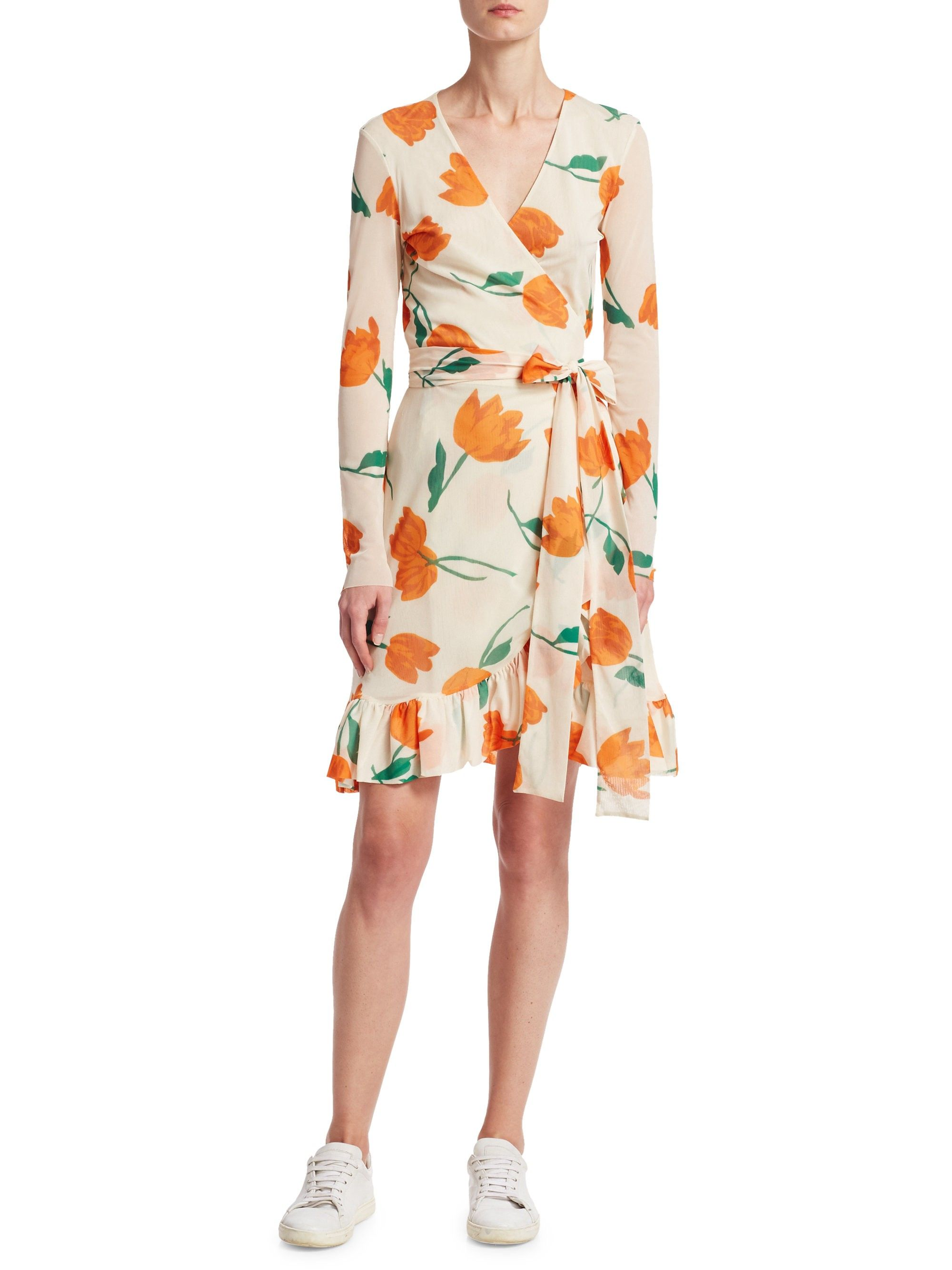 Ganni Tilden Leopard Print Dress Vanilla 42 10 Leopard Print Wrap Dress Wrap Dress Floral Wrap Dress
