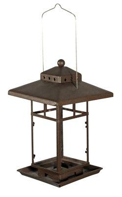 Metal Square Lantern Feeder.  Bronze metal finish feeder. #lantern #birdfeeder #seedfeeder