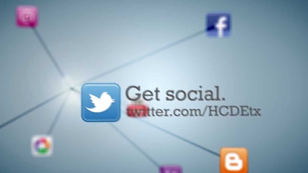 Get Social With Hcde Facebook Twitter Pinterest Youtube And Linkedin Education Social Educational Service