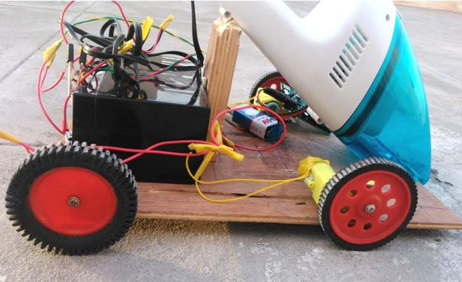 Diy Smart Vacuum Cleaning Robot Using Arduino Arduino Projects Diy Robot Vacuum Cleaner Electronics Projects Diy