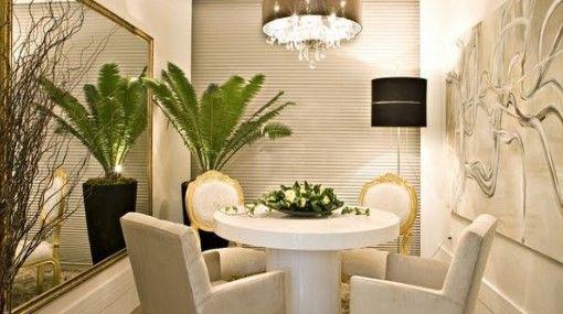 decoracion de comedores con espejos en paredes