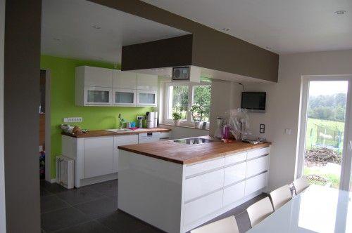 Réorganiser les pièces de la maison, création du0027un espace cuisine - Amenagement Cuisine En U