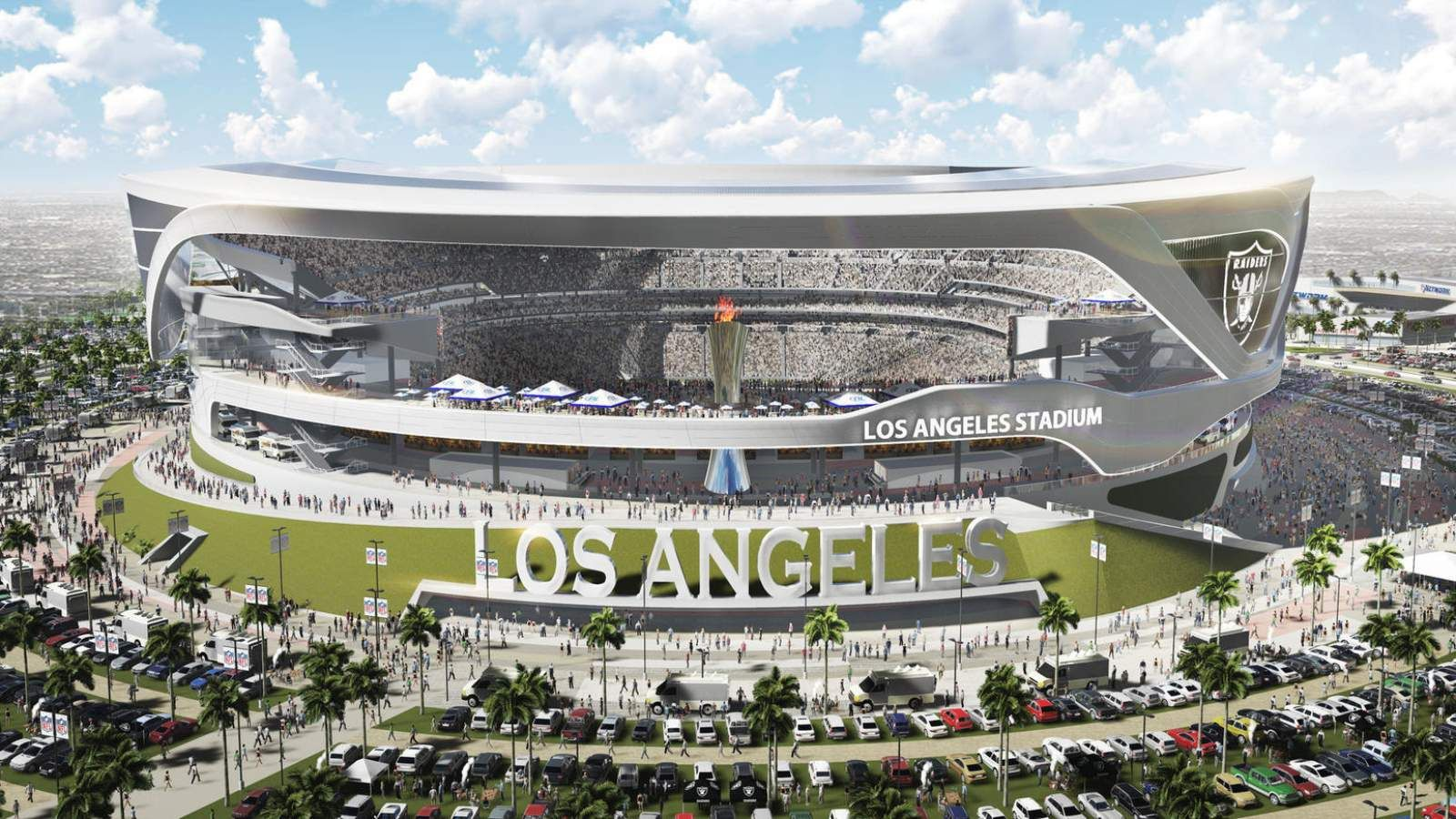Los Angeles Stadium By Manica Architecture Nfl Stadiums Football Stadiums Stadium Design
