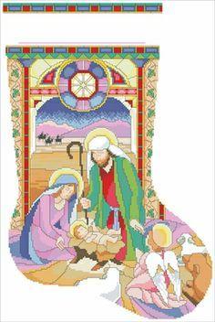 Stocking Patterns On Pinterest Cross Stitch Stocking Christmas Christmas Cross Stitch Nativity Nativity Crafts