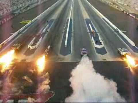 Under the word awesome should be a picture of four jet cars racing...