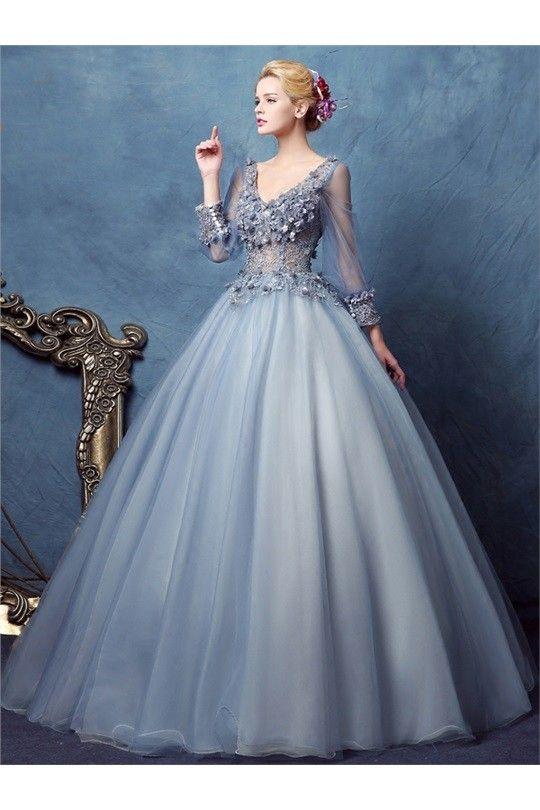 Dresswe.com, $184.13, 12211541, Vintage Long Sleeve Deep V Neck ...