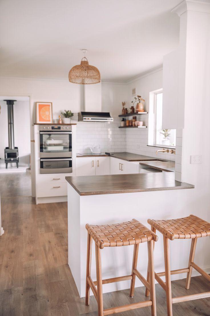 White Kitchen Wooden Accents Kitchendecor Home Decor Kitchen