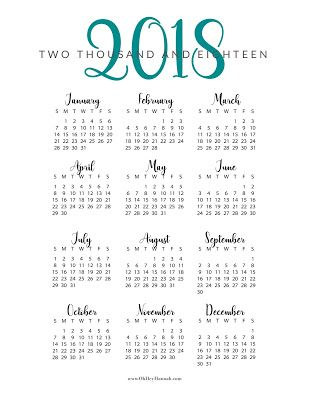 Free Printable  Year At A Glance Calendar  Oh Hey Hannah