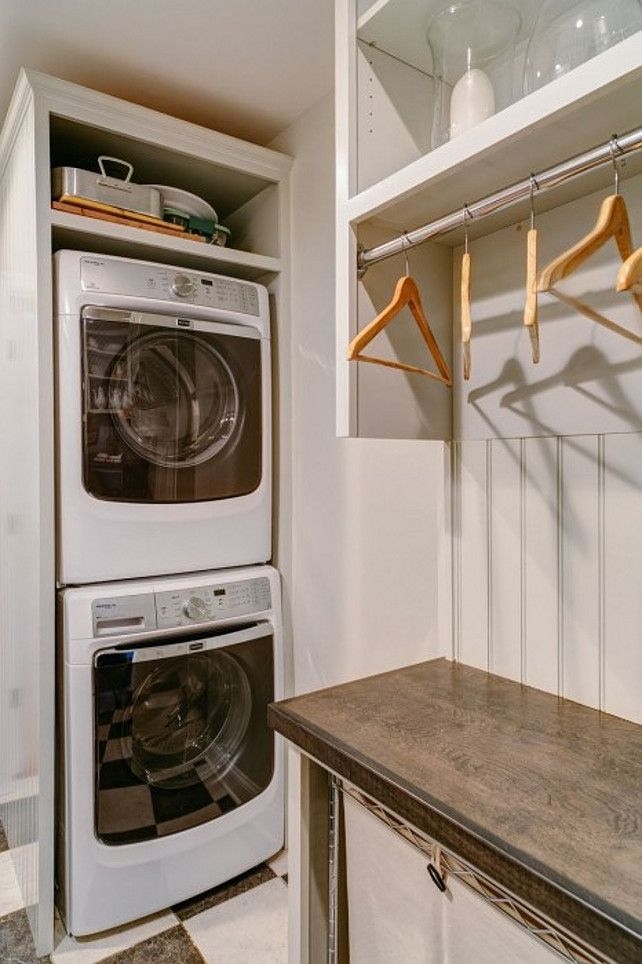 Portrayal Of Having Small Laundry Room Without Worry With Smallest Stackable Washer Dryer Hd And Mud Rooms Pinterest Beadboard Backsplash