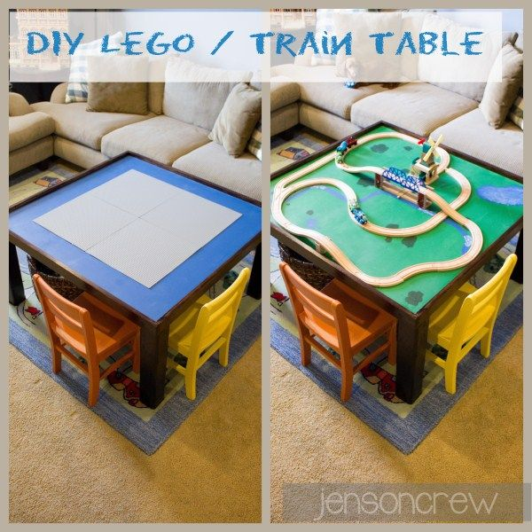 Train Table In One Diy Lego