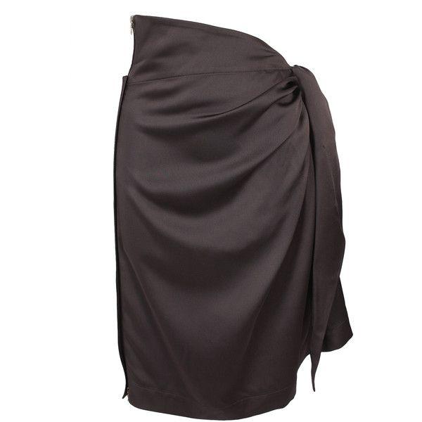 THE ROW 'Franken' Fluid Satin Sarong Skirt (€330) found on Polyvore