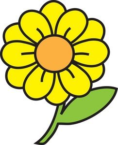 yellow daisy clipart free clip art images clip art gmk rh pinterest co uk daisy images clip art free daisy chain clip art free