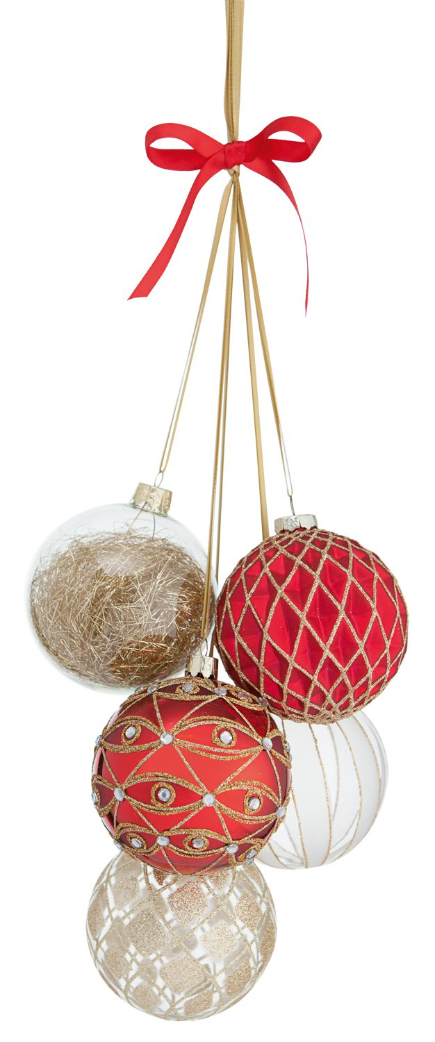 Traditional Glass Baubles Christmas Decorations Mistletoe And Wine Christmas Ornaments