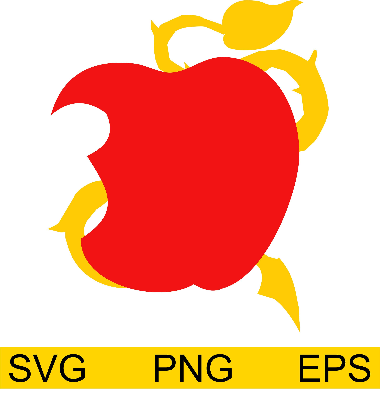 Disney Descendants Apple SVG Etsy in 2020 Disney