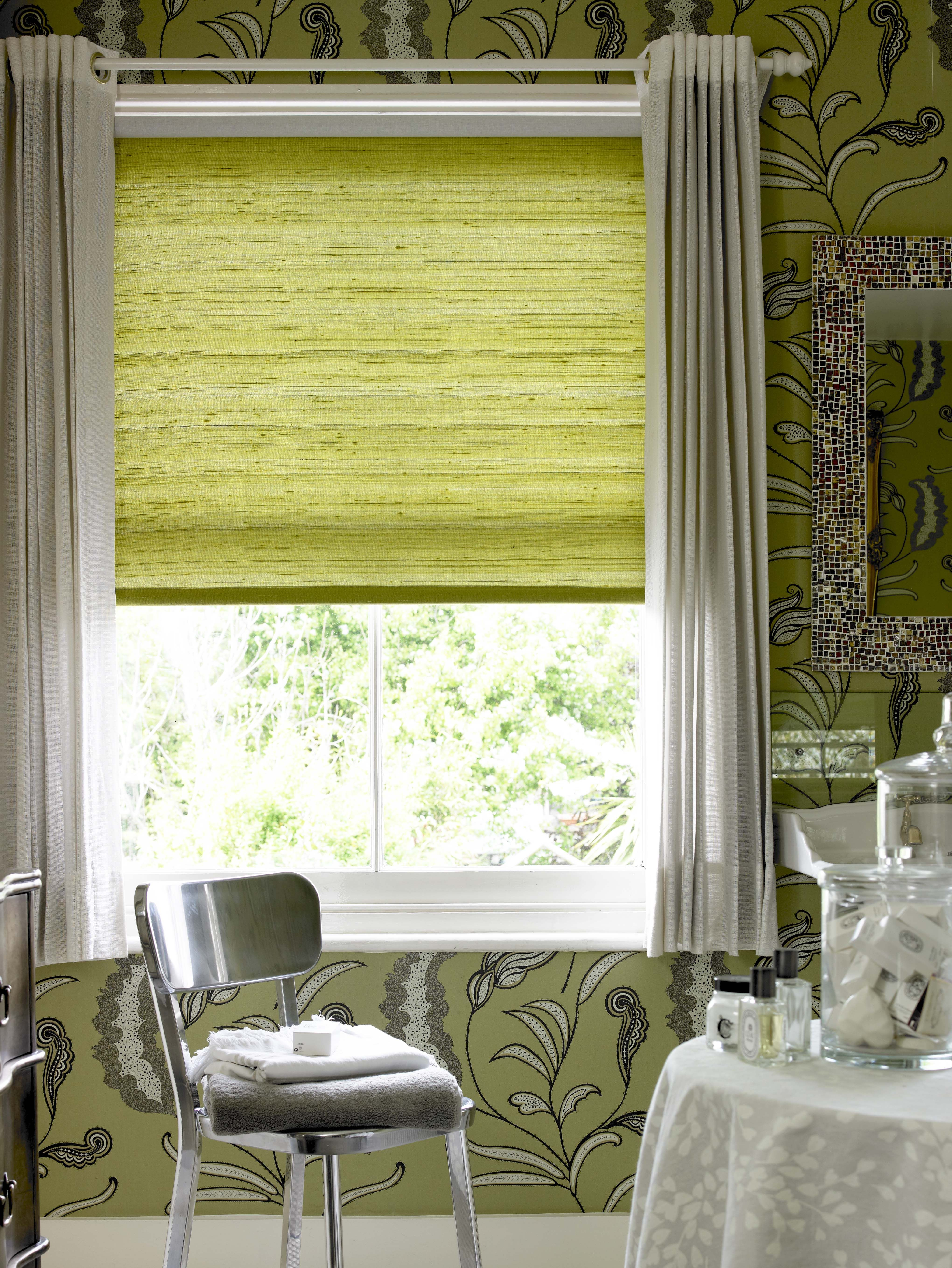 Beautiful roller blinds curtains...minus the wall! | Home decs ...