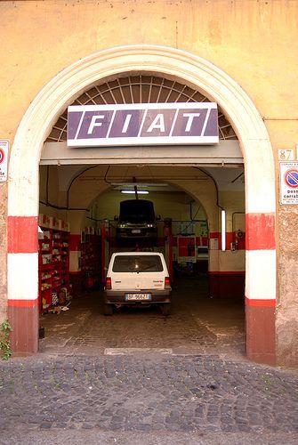 Fiat Panda In Fiat Garage Roma Fiat Panda Fiat Panda