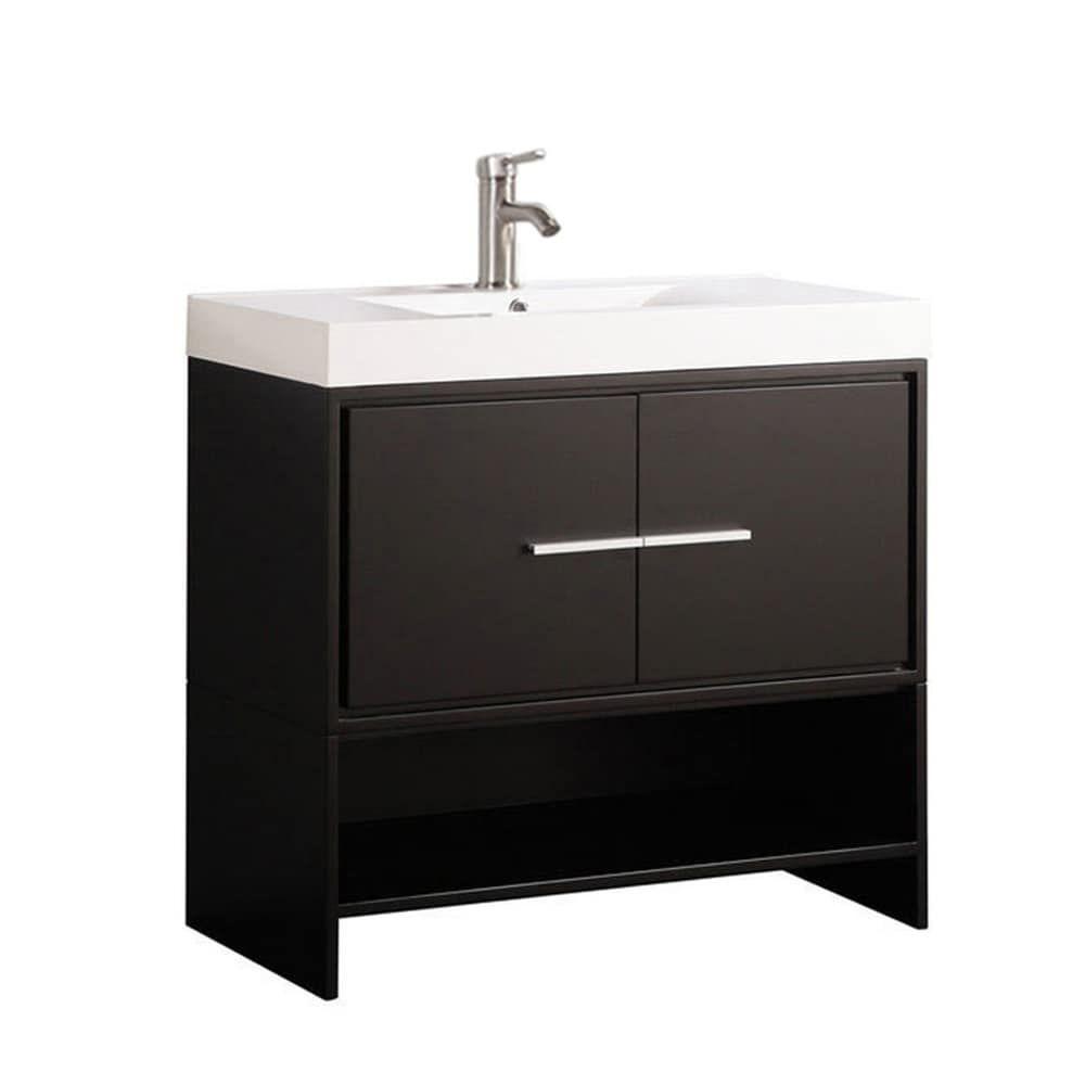 Clermont 36 Inch Single Sink Modern Bathroom Vanity Espresso