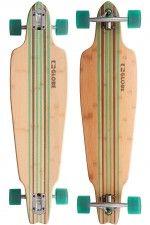 "Globe Prowler Bamboo 38"" (96,5cm) Complete-Longboard (bamboo clear green)"