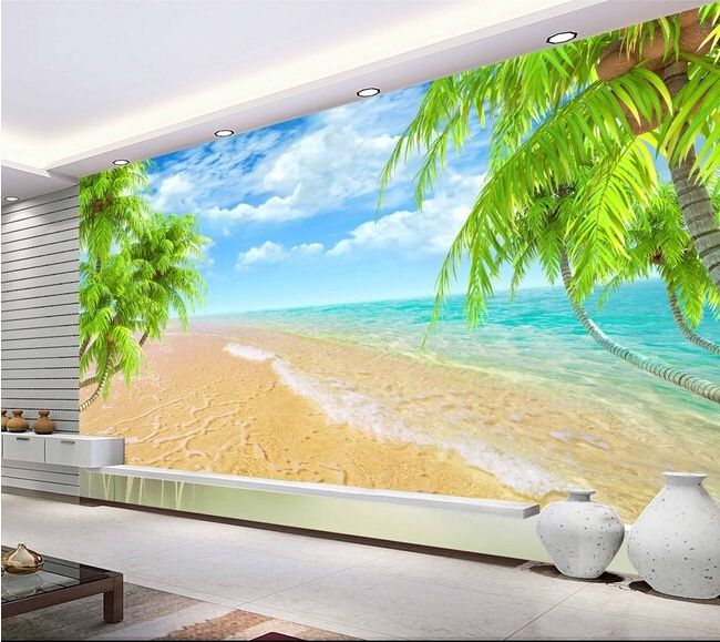 Hawaiian Home Design Ideas:  Hawaiian Beach Wall Murals