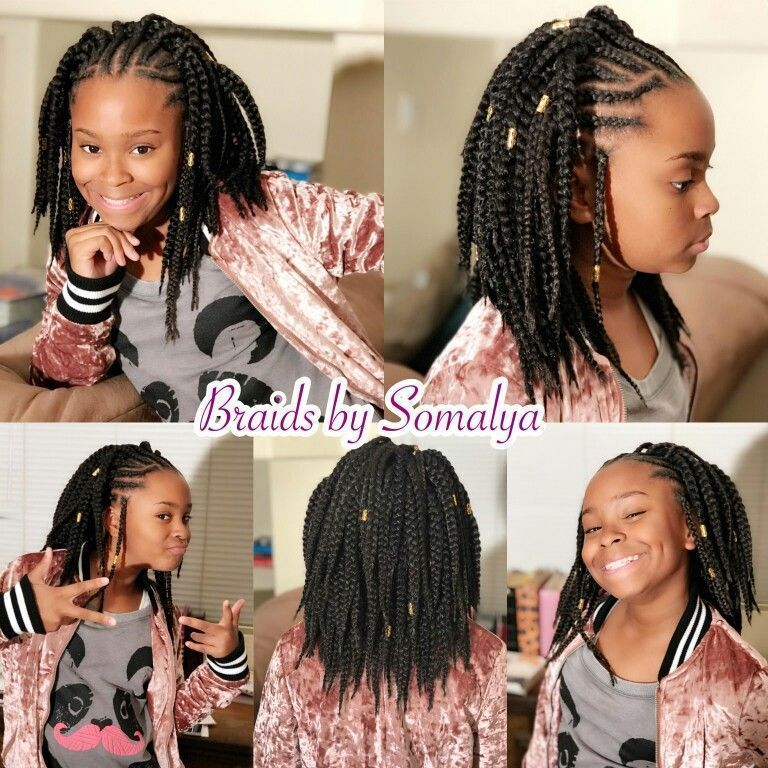 Black Girl Hair Styles Crochet Braids Individuals Half Up Half Down African American Hairsty Kids Braided Hairstyles Kids Hairstyles Little Girl Hairstyles