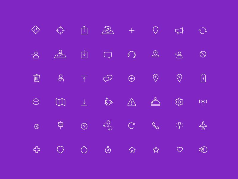 Life360 Icon Set | Inspirational Designs | Icon design, Icon