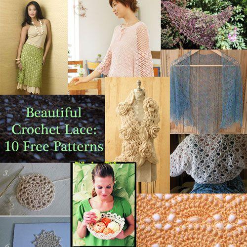 Beautiful Crochet Lace 10 Free Patterns Crochet Lace Beautiful