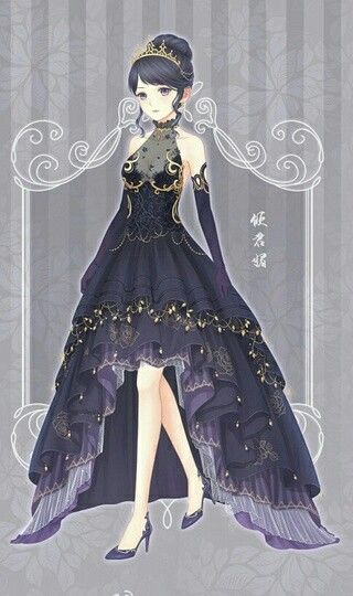 gown fancy anime dresses