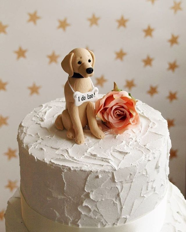 Dog Wedding Cake Topper Unique Way To Incorporate Your Pet Into Your Wedding Day Caketopper Dogw Dog Cake Topper Wedding Cakes Dog Succulent Wedding Cakes