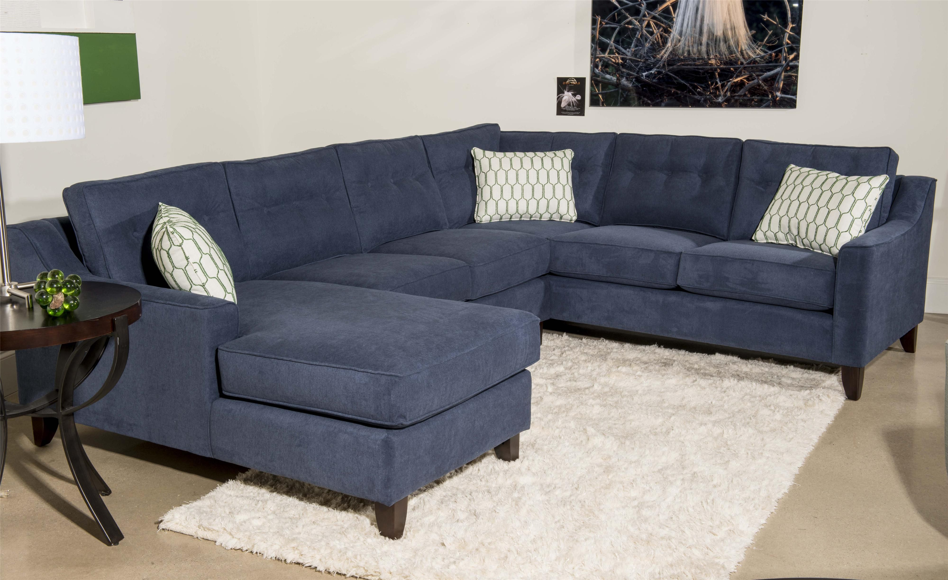 nice blue sectional sofa with chaise