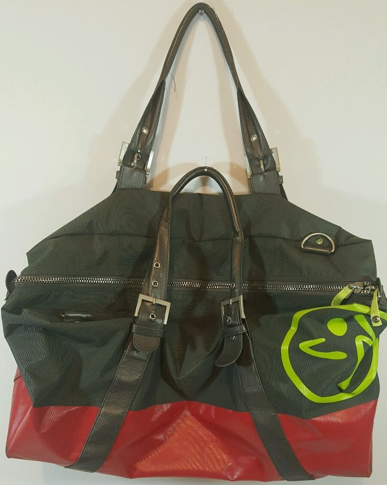 ZUMBA Gym Bag Womens Gray Red Yoga Workout Fitness Pilates Cycling Crossfit