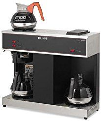 Christmas deals week BUNN-O-MATIC Pour-O-Matic Three-Burner Pour-Over Coffee Brewer Stainless Steel Black (VPS)