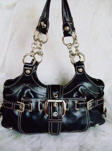 Authentic Kathy Van Zeeland Black Large Hobo Per Purse Clean Nice Ebay